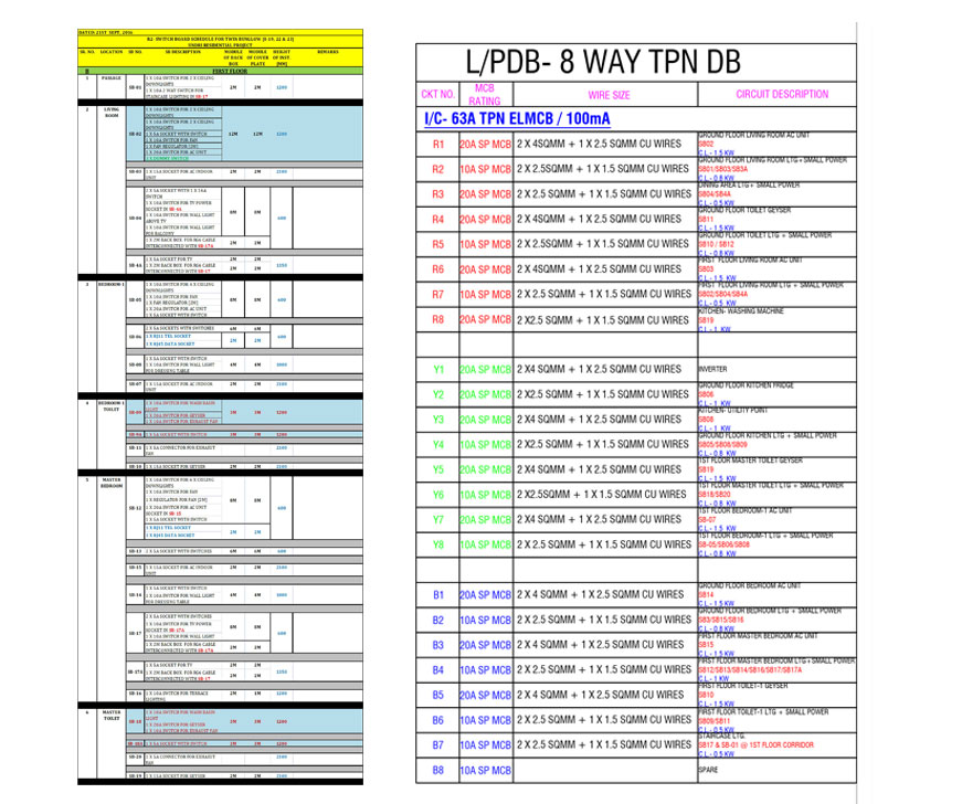 TYP-TWIN-BUNGLOW-1ST-FLR-ELEC+CONDUIT-PLAN1